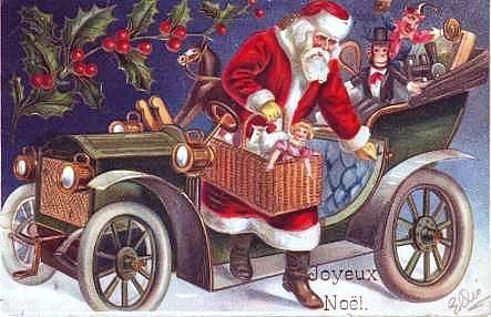 Weihnachtsmannpostkarte